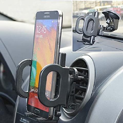 Universal 360 grados gira de aire del coche sostenedor de la salida para el teléfono móvil GPS.