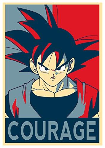 """Poster Dragon Ball """"Propaganda"""" Goku (Courage) - A3 (42x30 cm)"""