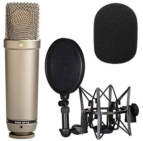 Rode NT1-A Mikrofon Vocal Recording Set + WS2 Schaumstoff Popschutz Windschutz