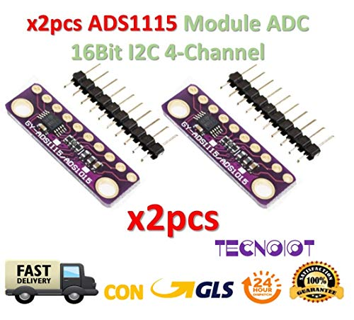 2pcs I2C ADS1115 16 Bit 16Bit ADC 4 channel Module Gain Amplifier -