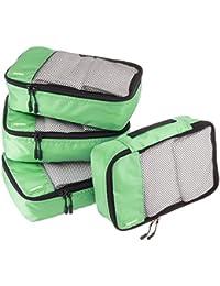 AmazonBasics Lot de 4 sacoches de Rangement pour Bagage Taille L