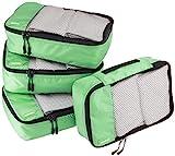 AmazonBasics - Set da 4 cubi organizzatori, misura piccola, Verde