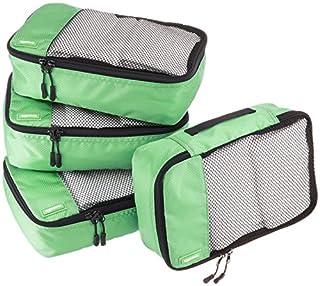 AmazonBasics Lot de 4sacoches de rangement pour bagage TailleS, Vert (B014VBILOA) | Amazon Products
