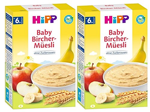 Hipp organico e cereali Buongiorno polenta Bircher muesli, 2er Pack (2 x 250g)