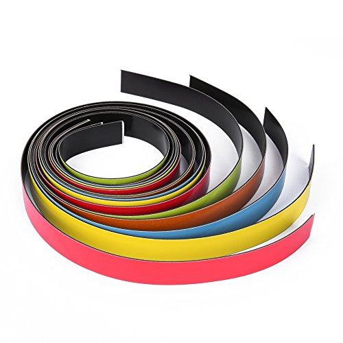 EAST-WEST Trading GmbH Magnetband, Magnetbänder farbig Sortiert, 5 x 1 Meter, 20 mm breit, einfach in gewünschte Größen schneiden