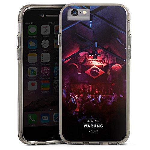 Apple iPhone 8 Bumper Hülle Bumper Case Glitzer Hülle Club Brasilien House Bumper Case transparent grau