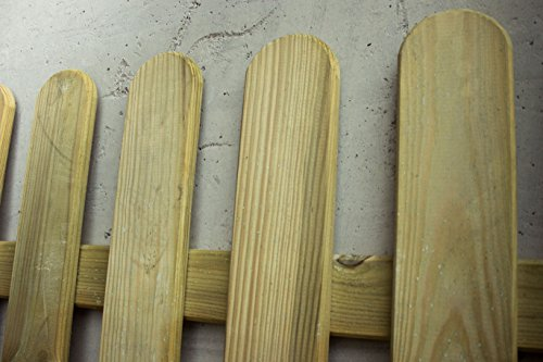 Avanti Trendstore – Manuel – Staketenzaun mit 13 vertikalen Leisten, aus Holz für den Garten. Maße: 180x100x5 cm