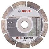 BOSCH Diamanttrennscheibe Standard für Concrete, 150 x 22,23 x 2 x 10 mm, 1-er Pack, 2608602198