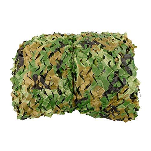 ACZZ Plane Woodland Camouflage Netting, Sonnenschutznetze Armee Mesh Netze Dschungel Outdoor Jagd Blind Camping Sonnenschirm Dekoration Camo Netting,5 M × 8 M