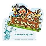 Lutz Mauder 26012 - Stanzkarte Kindergeburtstags-Einladungs-Set Indianer