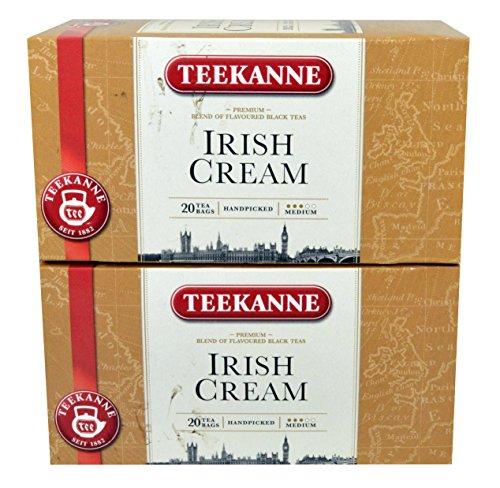 Teekanne Irish Cream 2 x 20 Teebeutel aromatisierter Schwarztee