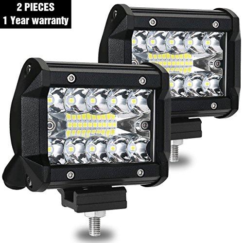 Preisvergleich Produktbild LED Arbeitsscheinwerfer,  AMBOTHER Zusatzscheinwerfer 4 Inch Arbeitslicht 120W 3 Reihen LED Scheinwerfer Arbeitsleuchte 2 Stück