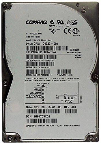 9,1GB Festplatte Compaq BB00911CA0 SCA SCSI ID8654 - Compaq Scsi-festplatte