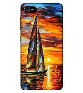 For Lenovo ZUK Z2 :: Lenovo Z2 Plus nice boat ( nice boat, boat, river, man, sunset ) Printed Designer Back Case Cover By Living Fill