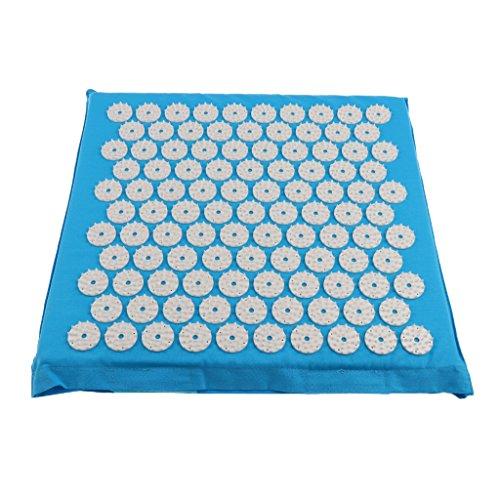Akupressurmatte Massagematte Yoga-Matte Entspannungs-Matte Akupressur Fußmatte Fußreflexzonen Massage (Blau)