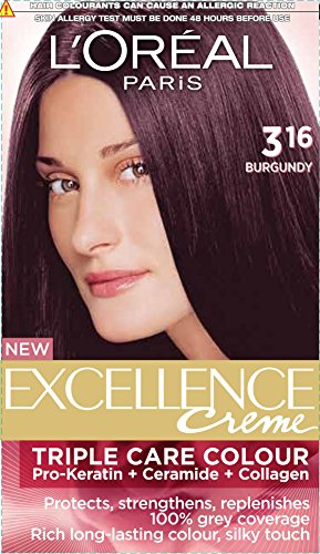 L'Oreal Paris Excellence Creme, Burgundy 316, 72ml+100g