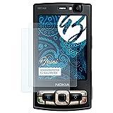 Bruni Schutzfolie für Nokia N95 8GB Folie - 2 x glasklare Displayschutzfolie