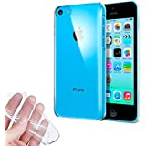 Donkeyphone 599371031 - funda gel transparente para iphone 5c silicona ultra thin - ultra fina 0,33 mm