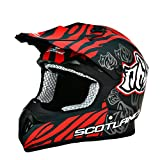 Scotland – Casco moto cross, titanio mate, talla 57 – 58 (M)