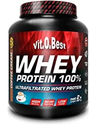 Vit-O-Best Whey Protein 100%, Proteínas, Sabor a Café - 907 gr