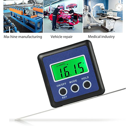 Price comparison product image AUTOUTLET Digital Angle Level Gauge Protractor Inclinometer Angle Finder Bevel Box Magnetic Base 0-360° 4 Units °, %,  IN / FT,  mm / m Pitch Helicopter,  Bevel Angle Miter Saw,  Repair etc