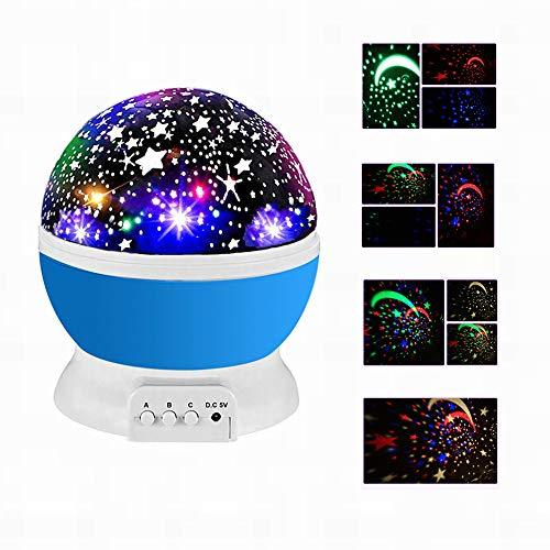 Sternenhimmel Projektor, Sternenlicht Projektor, baby Nachtlicht LED 360° Rotierend Projektionslampe, LED Projektor Perfekt für Parteien,Kinderzimmer, Weihnachten