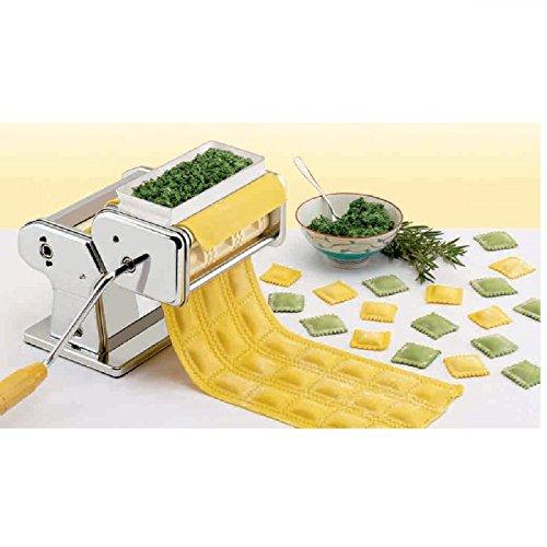 Macchina per pasta fresca Spaghetti, Lasagne, e ravioli, 3in 1Acciaio