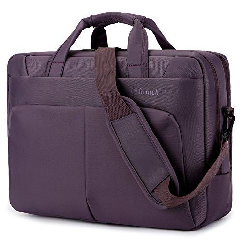 Brinch Laptop-Tasche, 15,6Zoll / 39,6cm, Nylon, Umhängetasche, mit Tragegriff, für 15–15,6Zoll Laptop/Notebook/Macbook/Tablet PCs violett violett 17.3 Inches Pc-violett