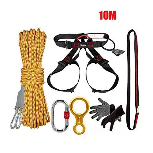 WYX 10M Kletter-Rope-Set, Outdoor-Ausrüstung Multi-Purpose Notfallausrüstung Erste-Hilfe-Schweißwerkzeug Kits Set für Reisen Camping