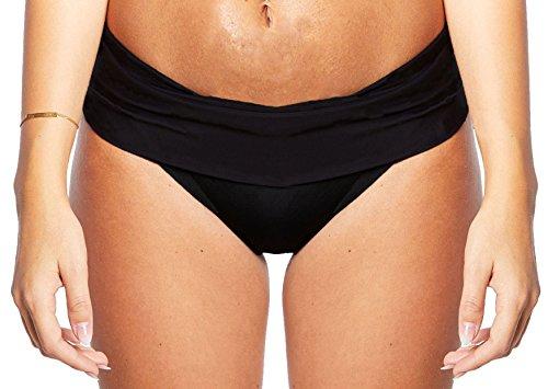 Damen Schwimm-Badeslip / Bikini Slip / Badehose / Baderock mit integriertem Slip Schwarz verschiedene Varianten und Größen f5384 Farbe: S7(sw) Slip Schwarz, Gr. 42 (L)