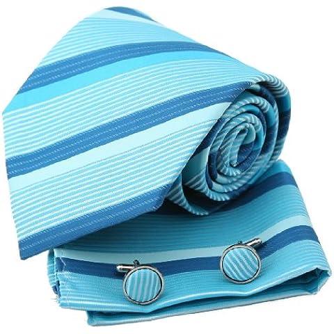 EAC1A24 Varios de los colores presentes de Navidad Idea seda para hombre Corbata rayada Por Epoint