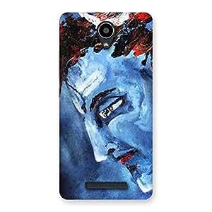 Cute Mahadev Blue Color Print Back Case Cover for Redmi Note 2