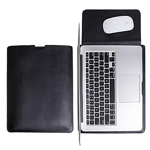 WALNEW Schlanke MacBook Air 13 Zoll (A1369/A1466) Hülle, MacBook Schutzhülle, Hülle, Case, Cover, MacBook Pro Retina 13 Zoll (A1502/A1425)Hülle mit Handgriff, geschütztes Inneres und externes Mousepad