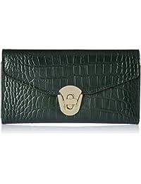 Aquatan Women's Diva Croco Leather Wallet Dark Emerald Green AT-W-49