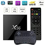 eCommerceTek, 2Go RAM/16Go ROM S905X Quad Core eMMC Android 6.0 4K WiFi H.265 Android TV Box Smart TV Box X96 MAX Android tv box, Média Player EU Plug