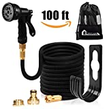 Expanding Garden Hose Pipe - Kitclan 100ft Expandable Stretch Hosepipe with Solid Brass