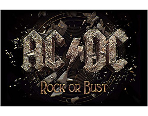 AC/DC Rock or Bust Flagge / Fahne / Posterflagge (Fahne Rock)