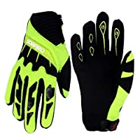 Gogokids Kids Cycling Gloves - Children Full Finger Sports Gloves for Skating, Road Bicycle, Mountain Bike, Skateboard, Green S
