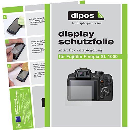 dipos Fuji Finepix SL 1000 Schutzfolie (6 Stück) - Antireflex Premium Folie matt