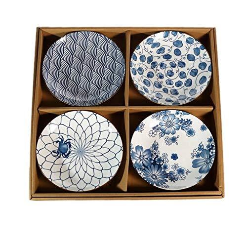 4 ASSIETTES ASIATIQUES - Design Japonais Traditionnel