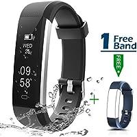 Fitness Armbanduhr, CHEREEKI Fitness Tracker Smartwatch Wasserdicht IP67 Aktivitätstracker Schrittzähler Armbanduhr Schlafanalyse Kalorienzähler Anruf/ SMS Kompatibel mit iPhone und Android