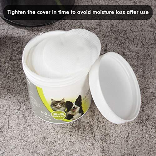 XIYAO Hund Pflegetücher für Welpen Katzen, Hund Zahnreinigungstücher, Haustier Ohrenpflegetücher