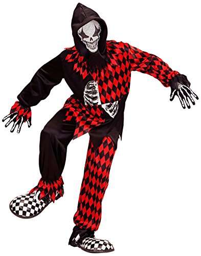 Evil Kind Jester Kostüm - Widmann-Evil Jester Boys, 128cm/5-7Jahren, vd-wdm08746