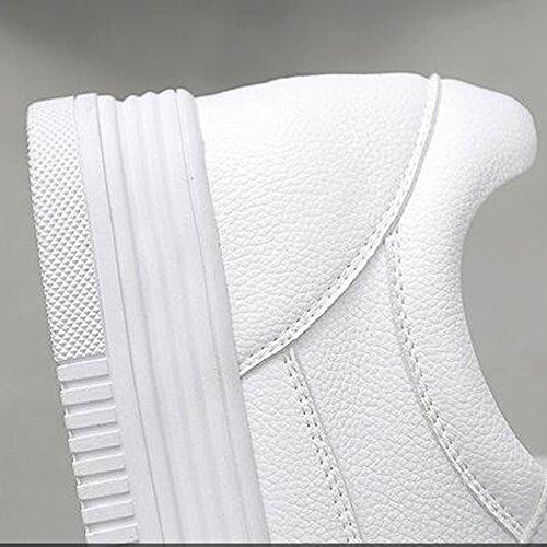 Baskets Fufu Femme Printemps Eté Automne Hiver Confort Pu Extérieur Sportif Décontracté Bas Talon Blanc 3.5cm (couleur: 1001, Taille: Eu39 / Uk6.5 / Cn40) 1002