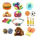 T0.0 10pezzi Set Giocattolo per Animali Domestici -Cucciolo di Cuccioli di Animali Domestici Squeaky Sound Kit di Giocattoli da Masticare per Cani di Piccola Taglia e Colori Medi Varia