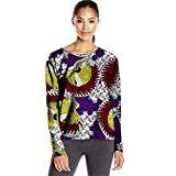 afrikanische hemd dashiki frauen wachs bluse top pflanzliche traditionelle vintage formalen ball ballkleid5 L