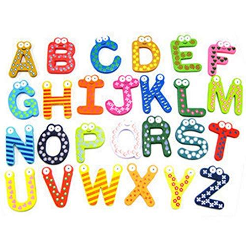 Vektenxi Premium Qualität Baby Spielzeug 26pcs Buchstaben Kinder Holz Alphabet Kühlschrankmagnet Kind pädagogisch -