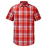 Jack Wolfskin Herrenhemd Hot Chili Small FIERY Red Checks
