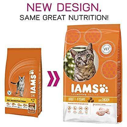 IAMS Adult Dry Cat Food with Fresh Chicken, 3Kg 5