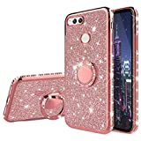HMTECH Compatible with Huawei Honor 7X Case Glitter Bling